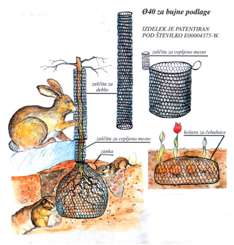 mreža za zaščito proti glodalcem